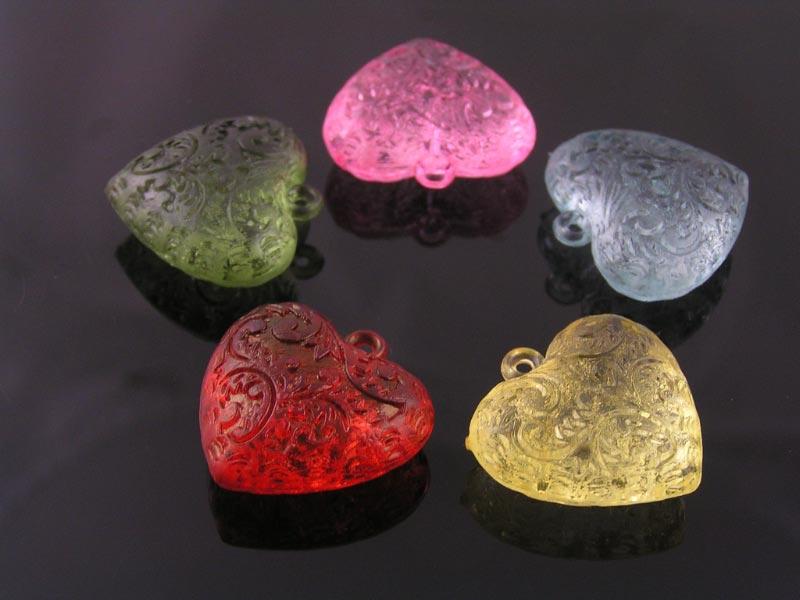 Acrylic Heart Pendants