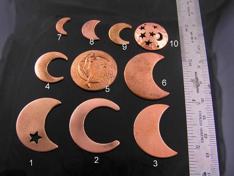 Copper Moon Pendants