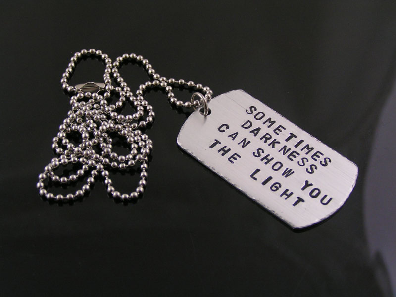 Disturbed Song Quote Necklace