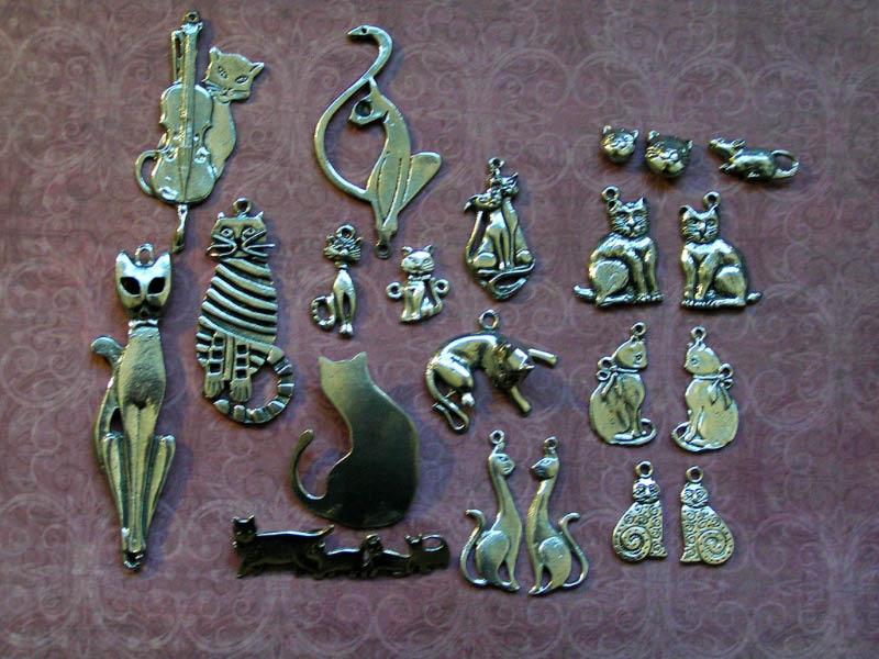Cat Pendants, Hand-Cast in Australia