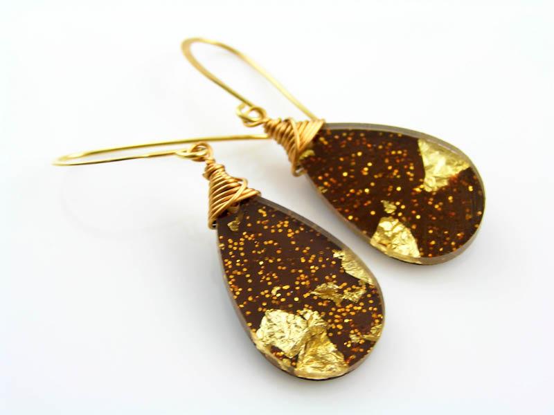 Glittering Acrylic Earrings