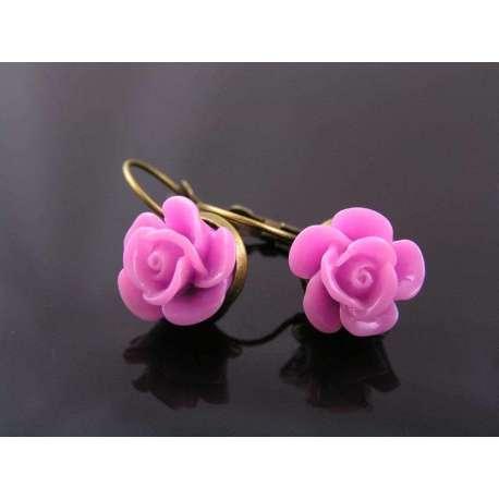 Lavenderl Rose Earrings