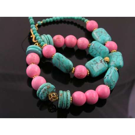 Rhodonite and Turquoise Necklace