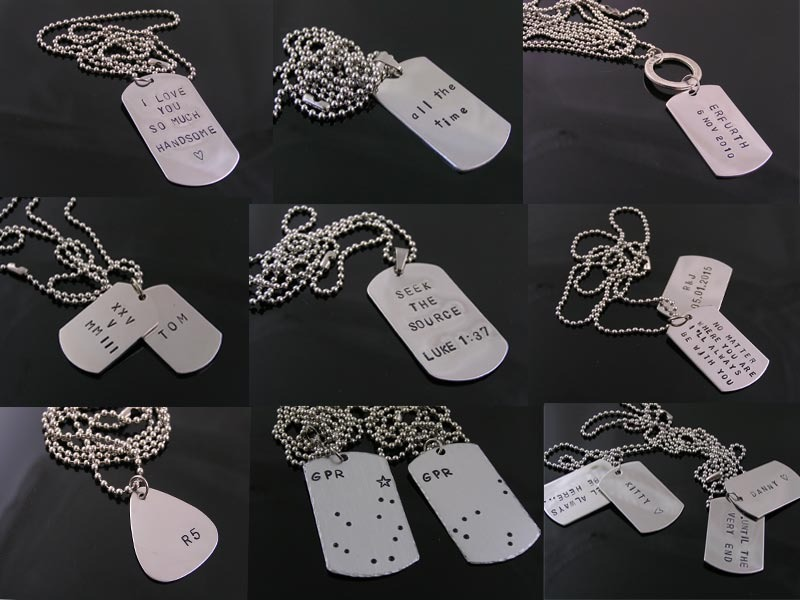 Dog Tag Pendant Options