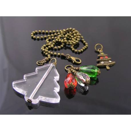 Christmas Necklace with 3 Pendants