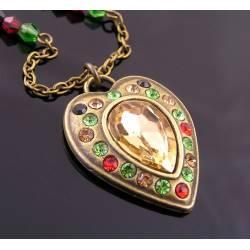 Ornate Crystal Set Heart Necklace