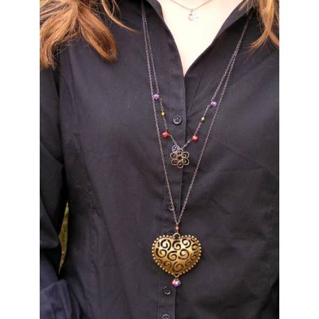 Filigree Heart Body Necklace
