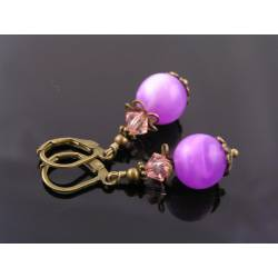 Purple Lucite Earrings