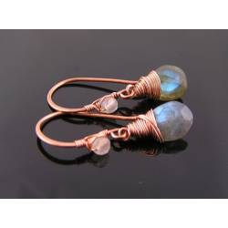 Labradorite Copper Earrings