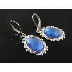 Blue Mirror Earrings