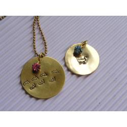 Baby Feet Necklace, Mother's Necklace