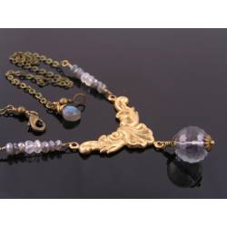 Mystic Quartz and Labradorite Necklace