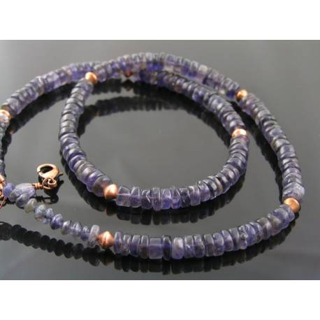 Iolite and Copper Necklace