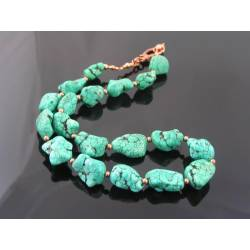 Large Chunky Turquoise Necklace