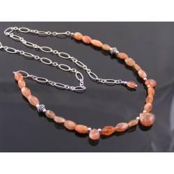 Sunstone Sterling Silver Necklace