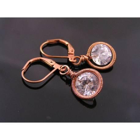 Brilliant Cut Solitaire Cubic Zirconia Earrings