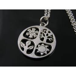 Four Seasons Necklace with 4 Pendants