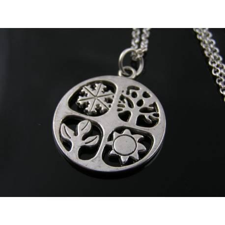 Four Season Necklace, Czech Flower Necklace