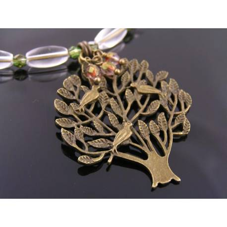 Tree of Life Necklace with Czech Glass Beads