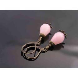 Pink Opal Earrings, October Birthstone