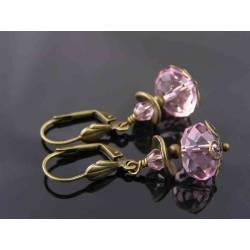 Sparkling Pink Crystal Earrings
