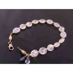 Rainbow Moonstone Gold Bracelet