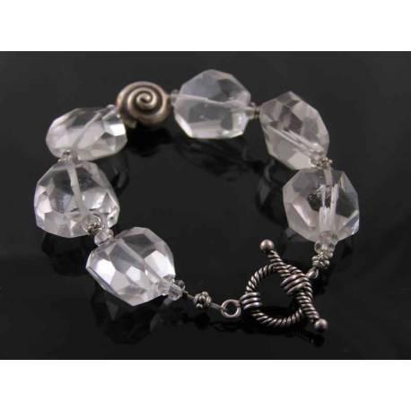 Large, Chunky Rock Quartz Bracelet