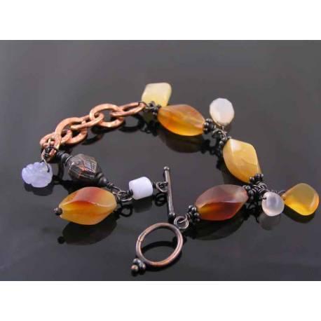 Chalcedony Copper Bracelet