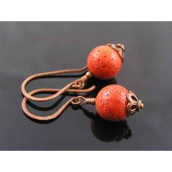Genuine Coral Earrings