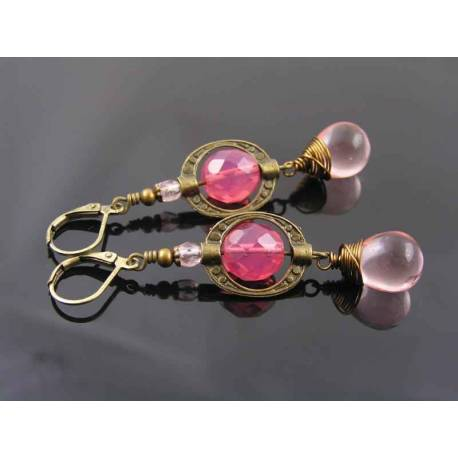 Shades of Pink, Dangle Earrings
