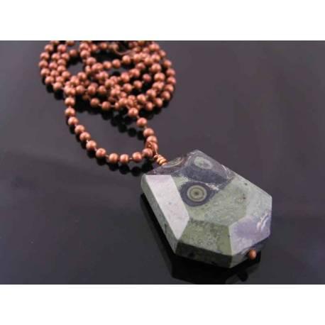 Kambaba Jasper Copper Necklace