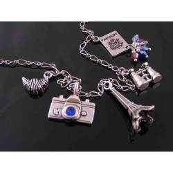 Travel to Paris Charm Necklace