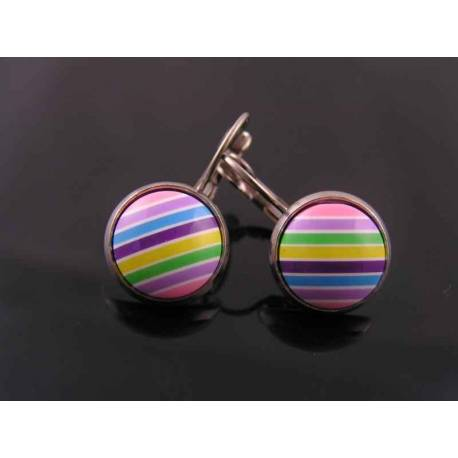 Colourful Cabochon Sleeper Earrings