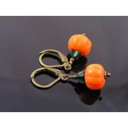 Pumpkin Earrings, Halloween Earrings