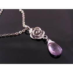 Amethyst Rose Necklace