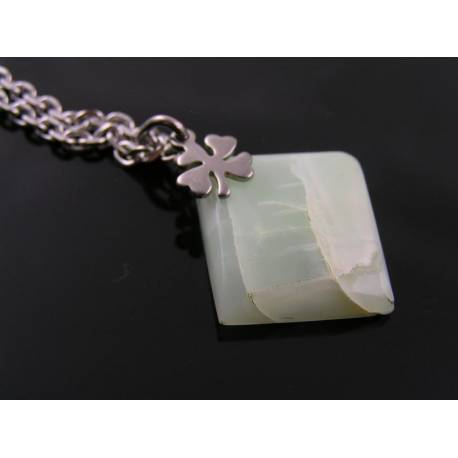 Green Moonstone and Dragonfly Necklace
