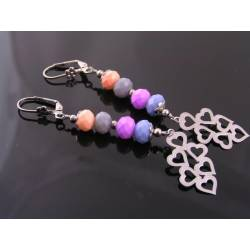 Long Earrings with Pastel Colours