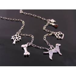 Dog Lover Necklace, Charm Necklace