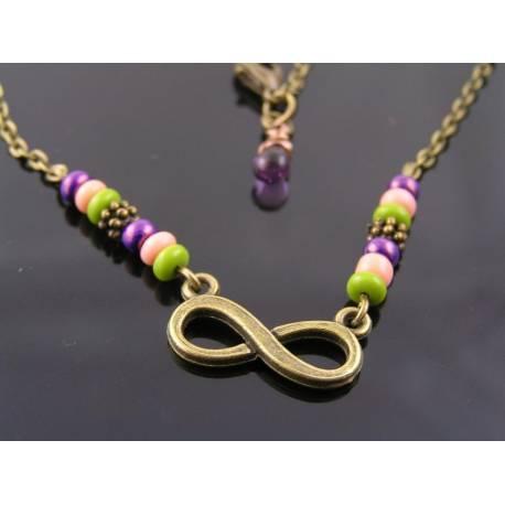 Eternity Necklace, Romantic Necklace, Wedding Jewelry