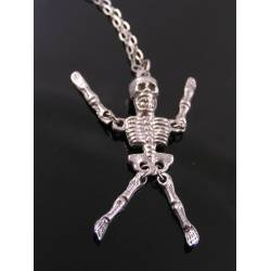 Movable Skeleton Necklace, Halloween Necklace