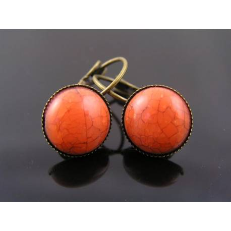 Burnt Orange Sleeper Earrings