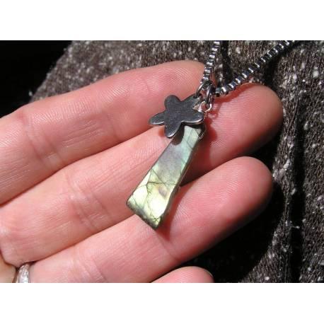 Rough Labradorite Necklace, Customisable