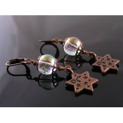 Celestial Earrings with Mystic Quartz