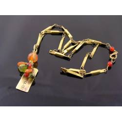 Inspirational 'Life' Necklace with Carnelian and Peridot