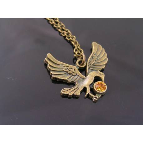 Bird Crystal Necklace