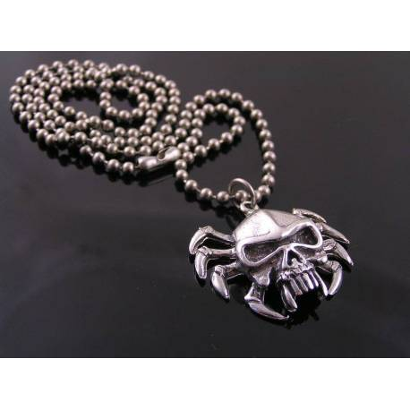 Skull Spider Necklace