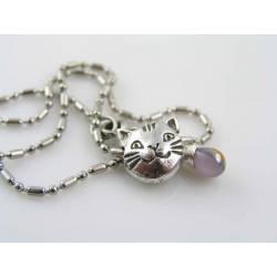 Cat Bead Choker, Cat Necklace