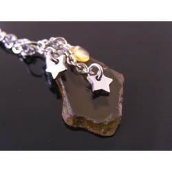 Beer Quartz, Citrine and Star Charm Necklace