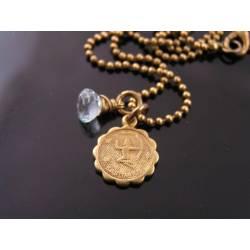 Star Sign Virgo Necklace with Birthstone Sapphire
