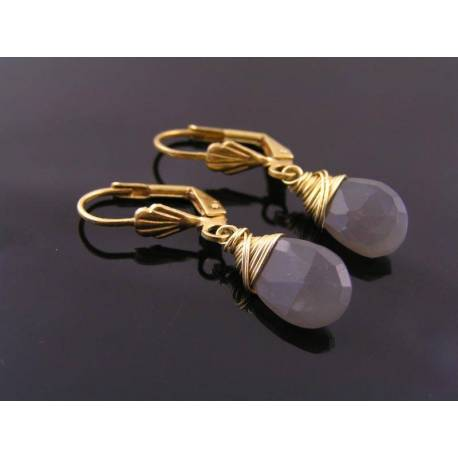 Gray Moonstone Earrings